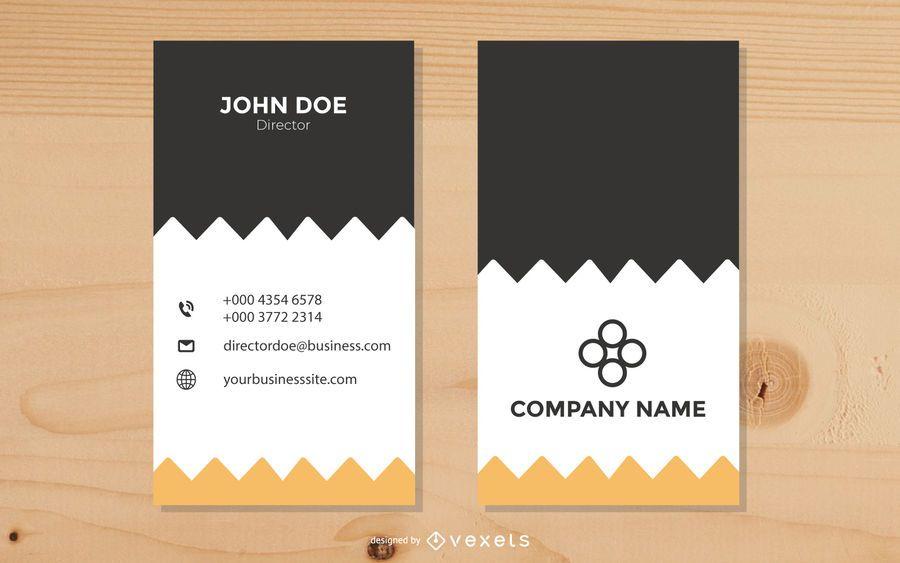 Zigzag Design Vertical Business Card