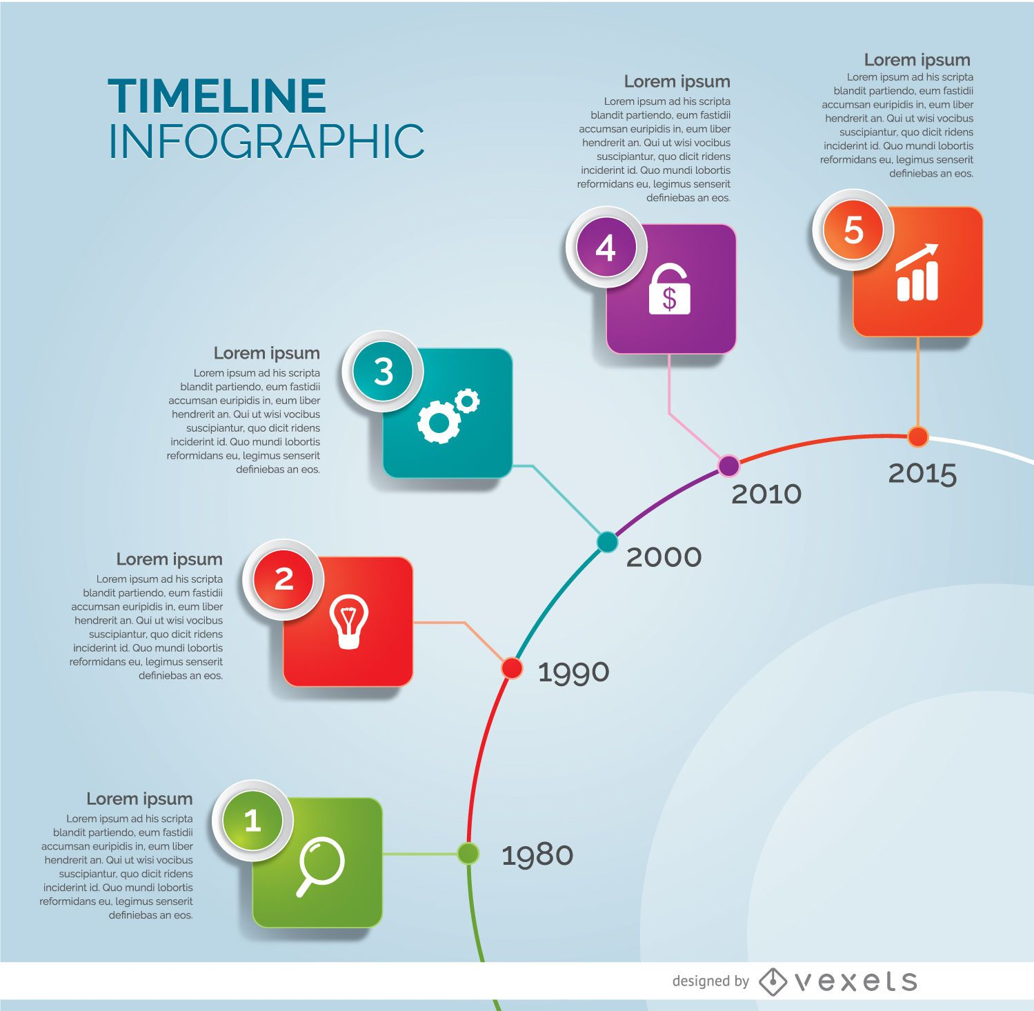 Infografía de círculo de línea de tiempo