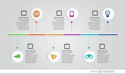 Cronograma do processo infográfico