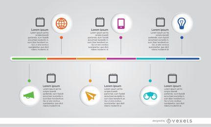 Infographik Prozess Zeitleiste