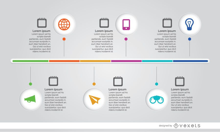 infographic process timeline vector download