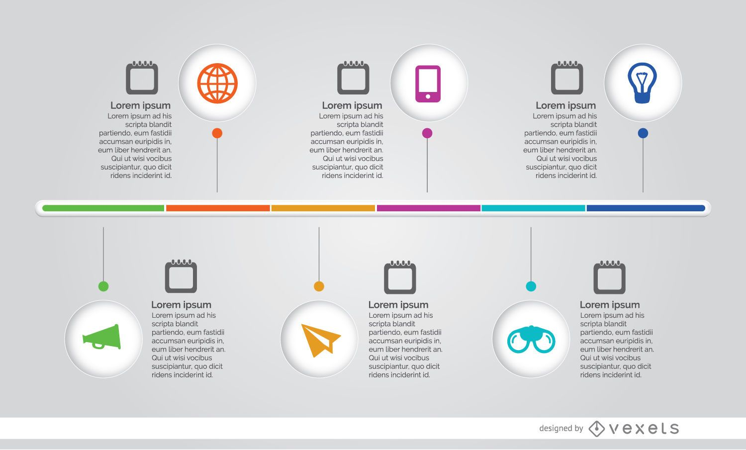 infographic process timeline - vector download