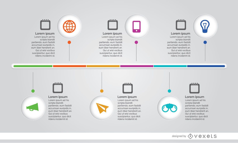 Línea de tiempo del proceso de infografía