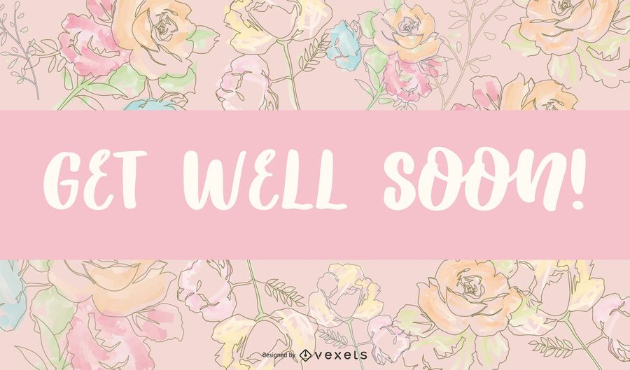 Get Well Soon Hand Drawn Card