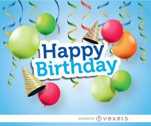 Feliz festa de aniversário