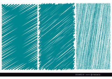 3 texturas de garabato azul