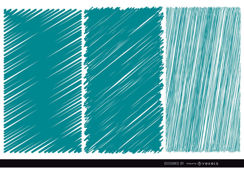 3 Scribble blue textures