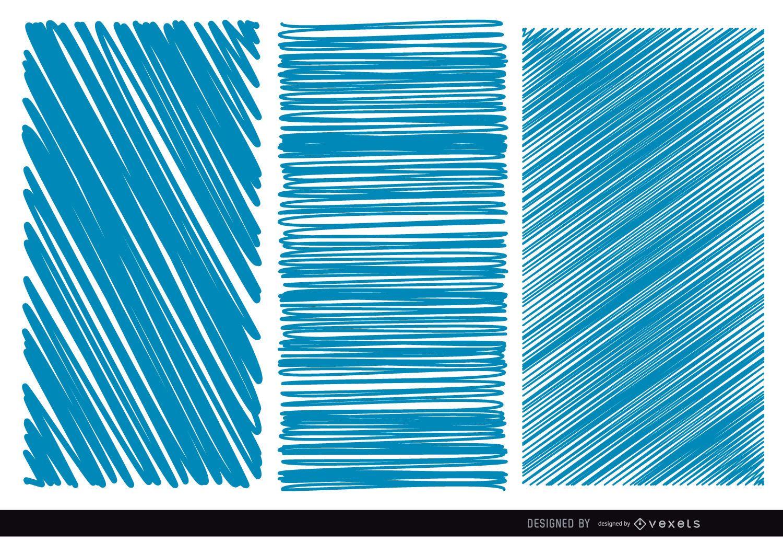 3 texturas azules rayados