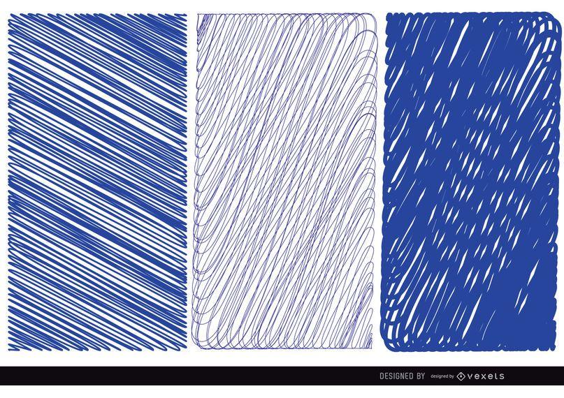 3 pen blue textures
