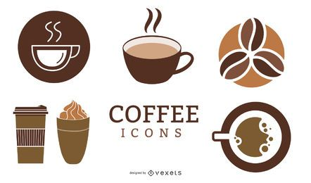 Minimale Kaffee-Ikonen-Packung