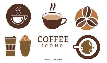 Minimaler Kaffee-Ikonen-Satz
