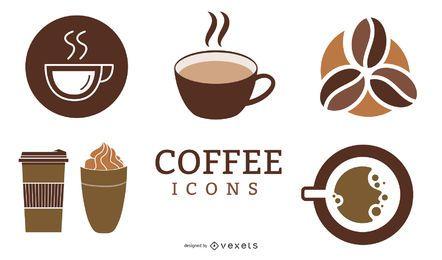 Minimaler Kaffee-Icons-Pack