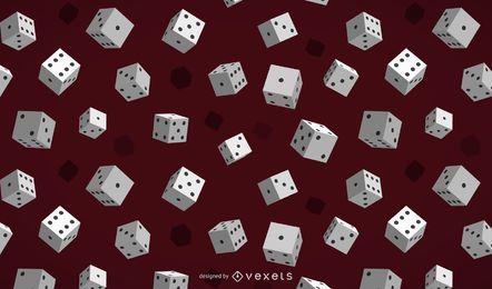 Glattes spielendes 3D würfelt Hintergrund