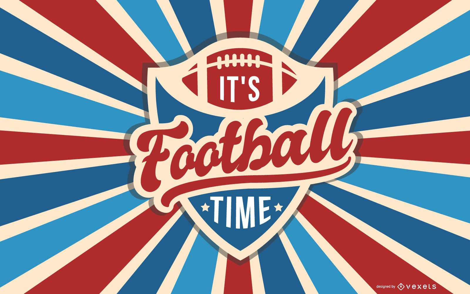 Super Bowl Retro American Background