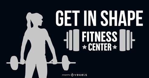 Estandarte de fitness de mujer