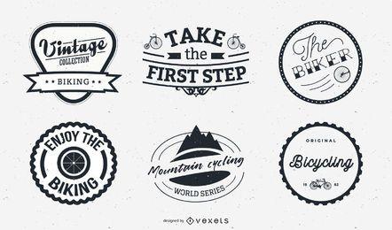 Etiqueta de bicicleta creativa y conjunto de logotipo