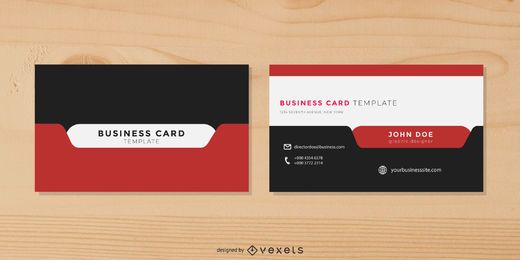 Stylish Modern Business Card with Tab