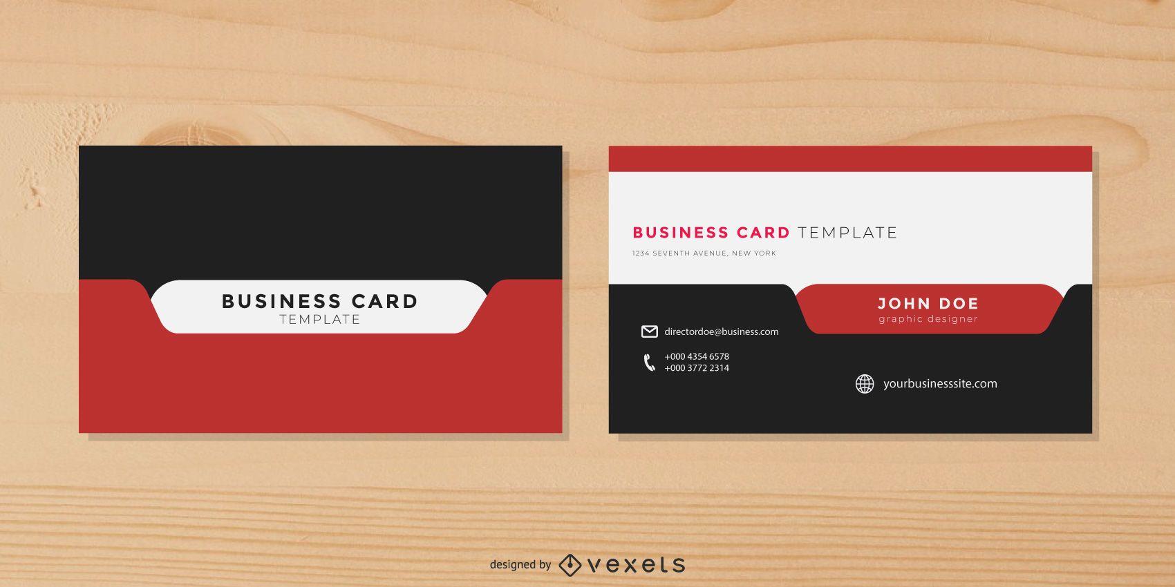 Cartão de visita moderno e elegante com guia