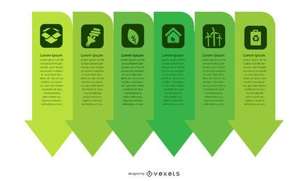 Green Ecology Arrows Infographic