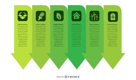 Infografía de flechas de ecología verde
