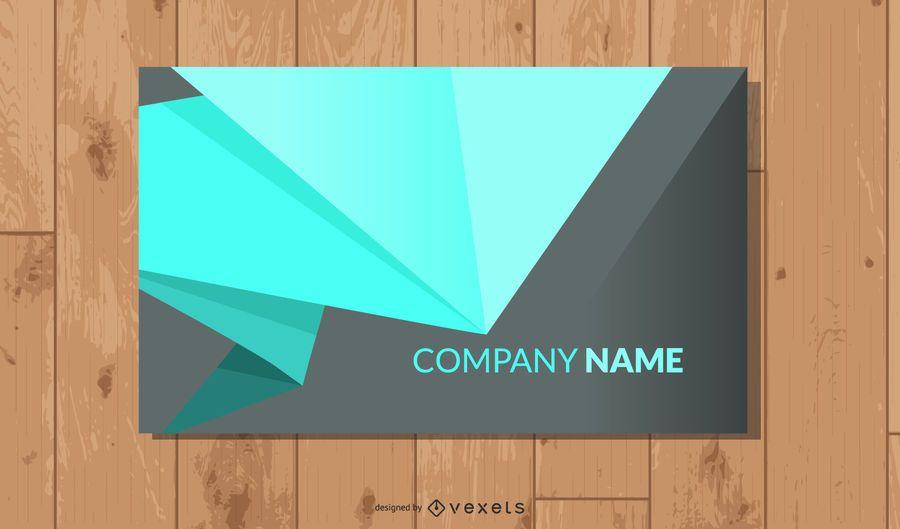 Tarjeta de visita corporativa limpia y simple