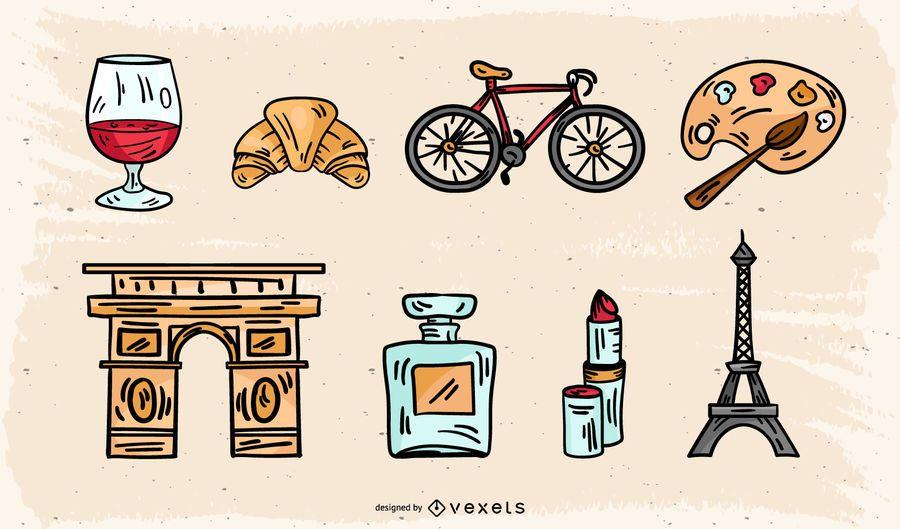 Conceptual Vintage París Pack de iconos