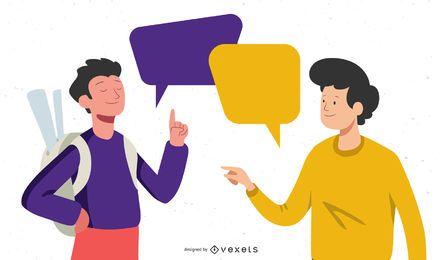 Personagens de pessoas de negócios de conceito de conversa