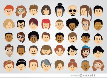 40 Cartoon character heads
