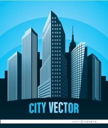 City buildings poster