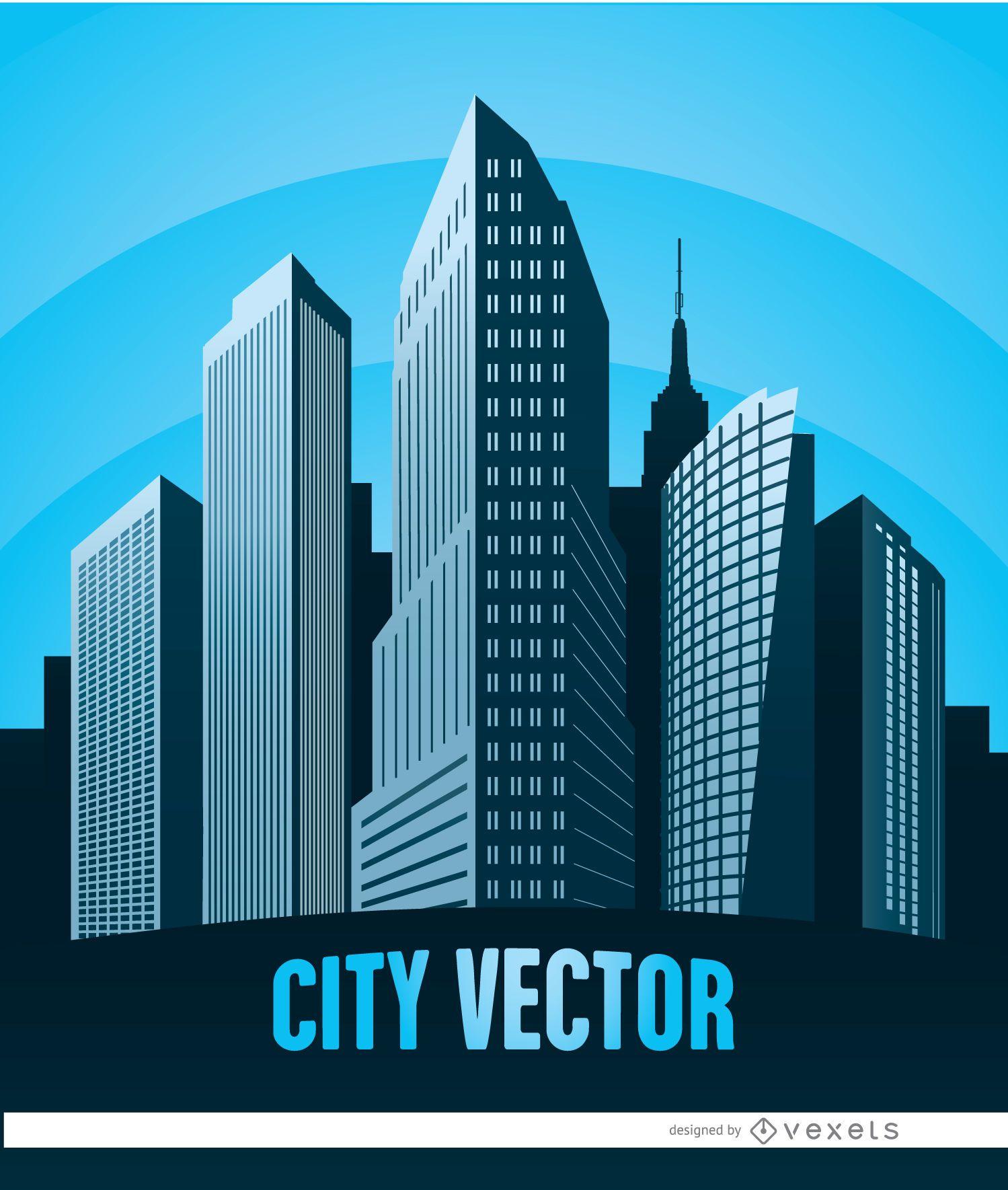 Cartel de edificios de la ciudad