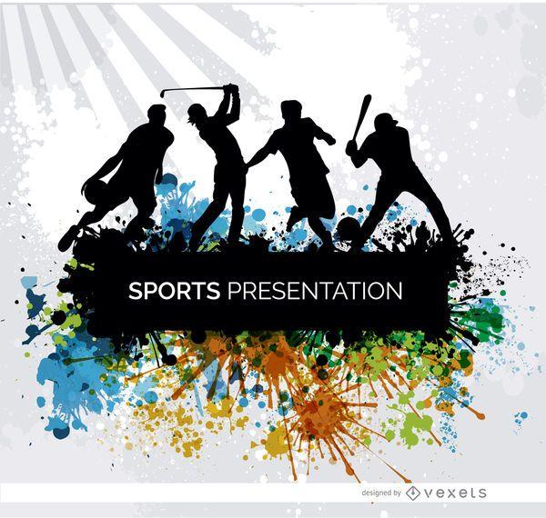 Cartel grunge de deportes