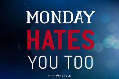 Segunda-feira te odeia fundo de bokeh