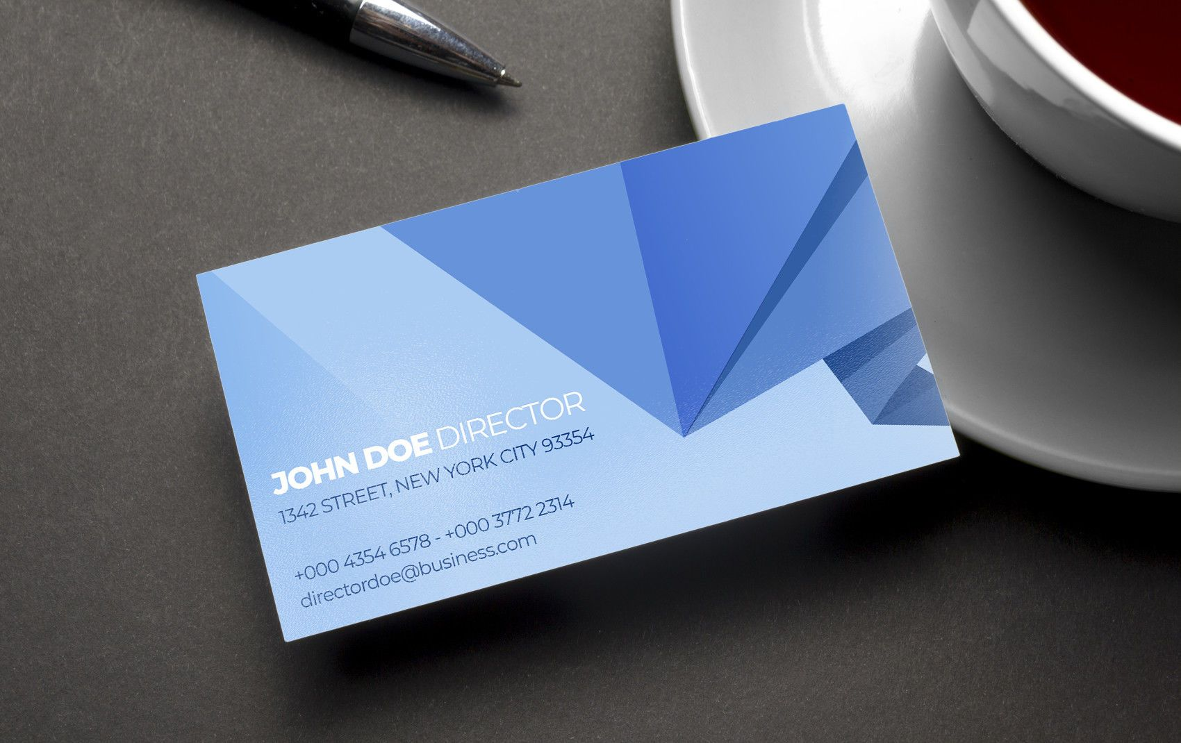 Abstract Polygonal Origami Business Card