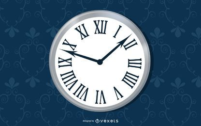Simple Wall Clock Seamless Pattern