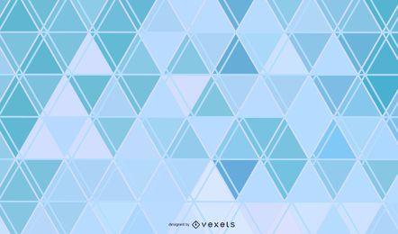 Fundo abstrato azul linhas de triângulos
