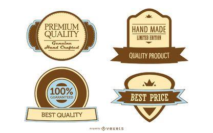 4 modelos de rótulos promocionais vintage