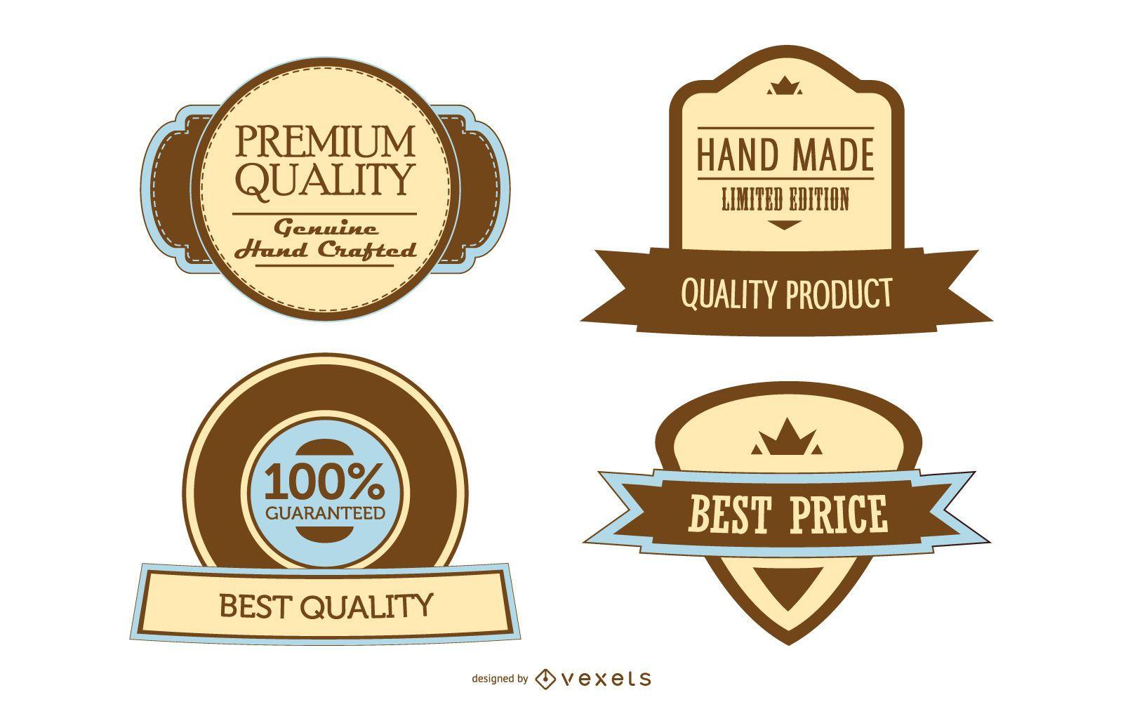 4 plantillas de etiquetas promocionales antiguas