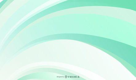 Fondo verde de curvas suaves