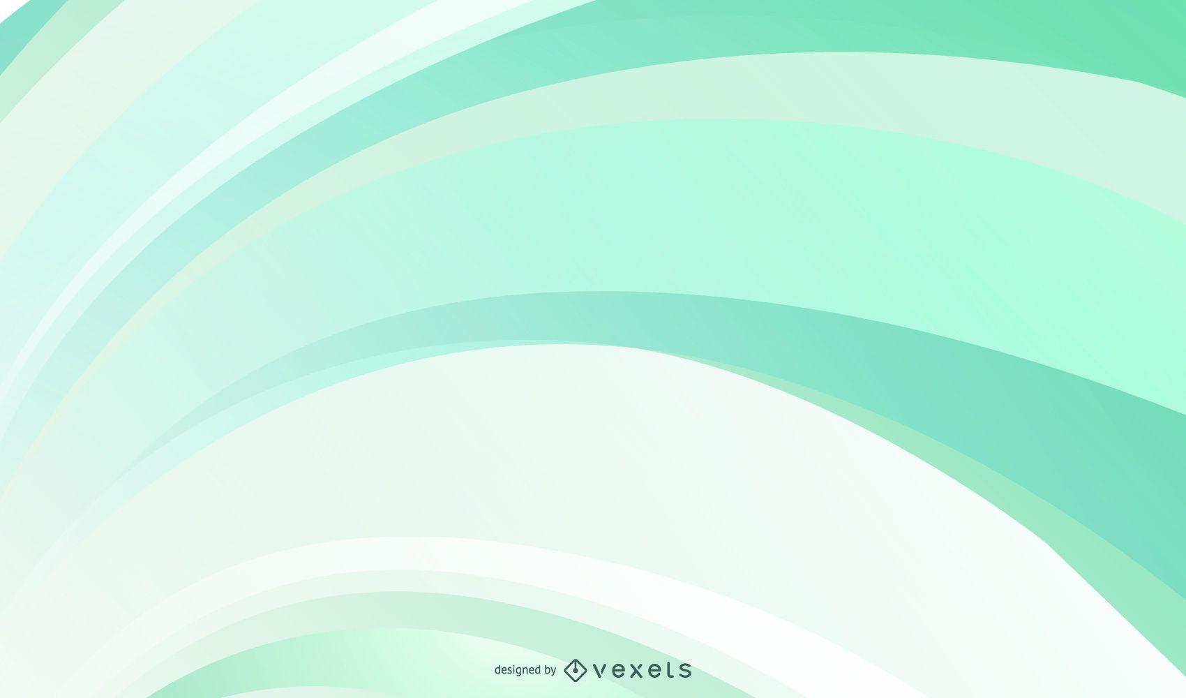 Fundo verde com curvas suaves