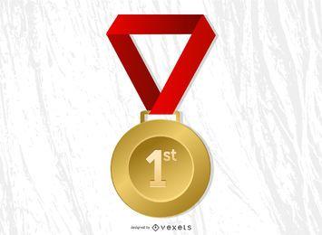 Belohnung Sunburst-Hintergrund für den ersten Platz