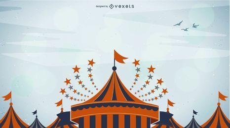 Bunter flippiger Zirkus-Hintergrund