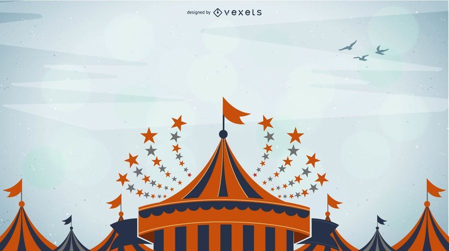 Colorful Funky Circus Background