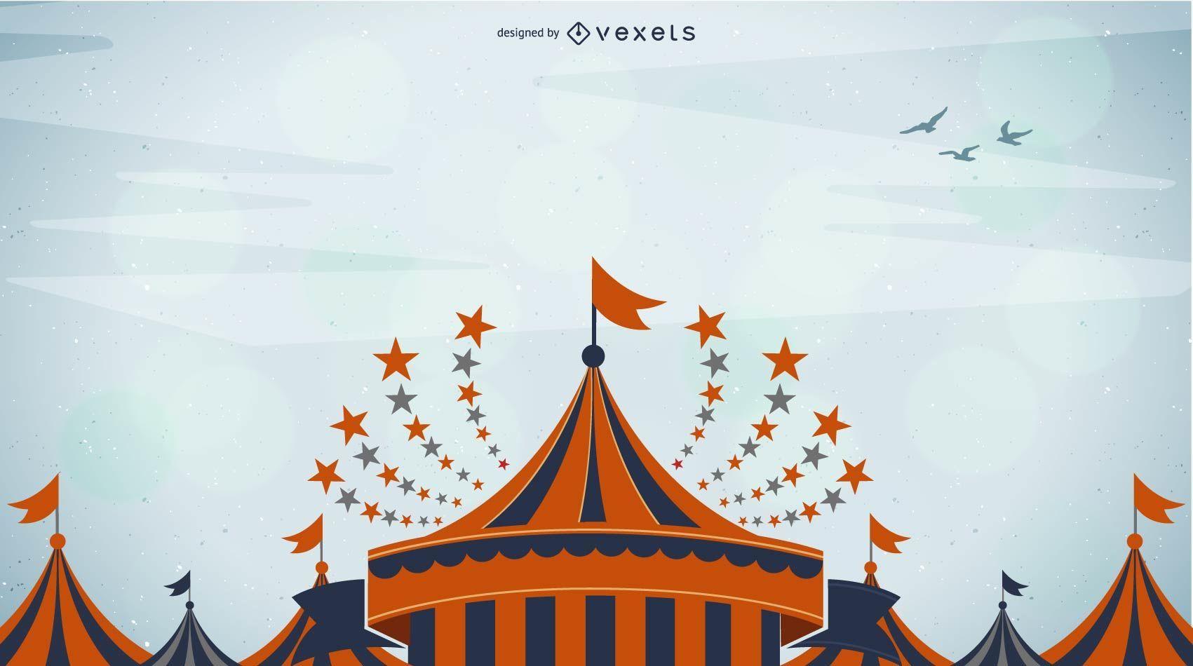 Fundo colorido de circo funky
