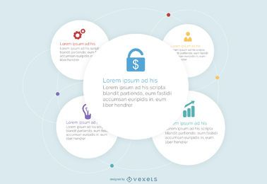 White Circles Business Infographic