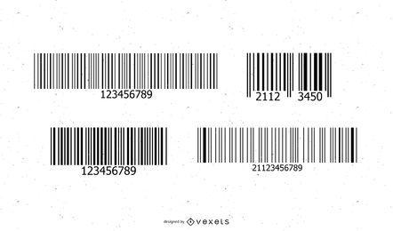 Códigos de barras de vetor