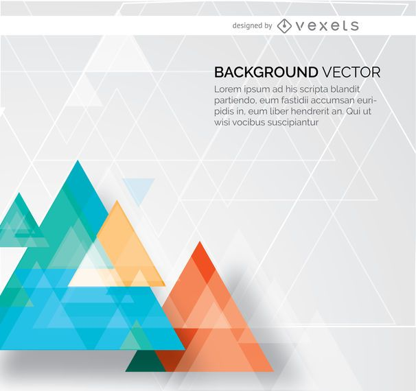 Abstract triangles background design