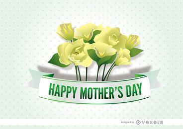 Dia das mães flores fita