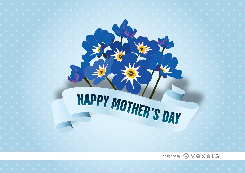 Cinta de myosotis del día de la madre