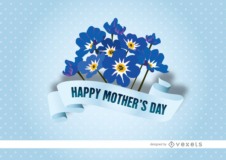 Mother?s Day myosotis ribbon