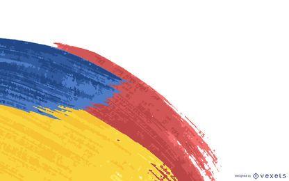 Fundo abstrato colorido pintado Swatches